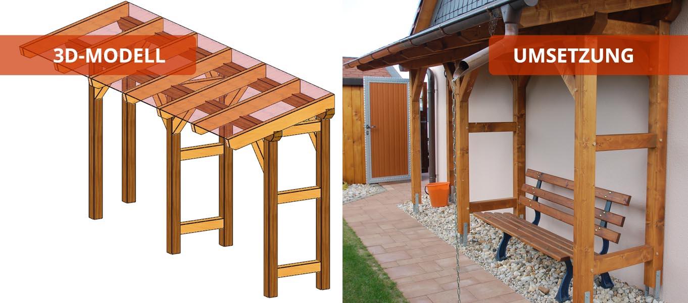 Terrassendach - Holzbausätze individuell und zum selber aufbauen